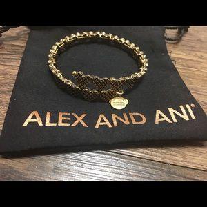 Alex And Ani Gold Vintage Heart Bracelet